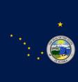 flag of alaska usa vector image vector image