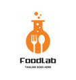 food laboratory logo vector image