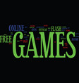 free flash games text background word cloud vector image vector image