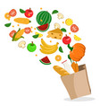 fresh vegetables fruits and healthy foods are vector image vector image