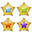 funny stars icons for ui game vector image vector image