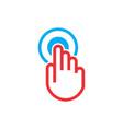 hand on power start logo icon vector image