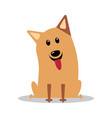 happy cartoon puppy sitting vector image