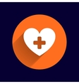 Heart icon medical life health vector image