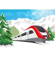 high speed train vector image vector image