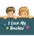 Holiday card Teachers Day vector image