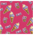 ice cream and candies pattern background vector image