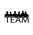 icon of team people silhouette vector image