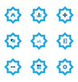 interface icons colored set with add remove vector image vector image