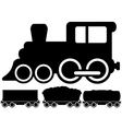 isolated locomotive train and car vector image vector image