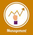 Management design vector image