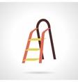 Metal stepladder flat color design icon vector image