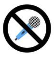 no microphone symbol vector image vector image