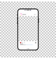 phone on a isolated background realistic design vector image