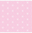 pink flower line pattern background vector image vector image