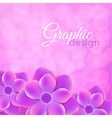 purple background with flowers vector image vector image