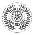 quality car repair vector image vector image