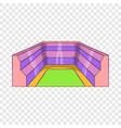 rectangular stadium icon cartoon style vector image vector image
