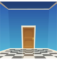 Room Door - Blue vector image vector image