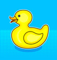 rubber duck toy comic book style vector image vector image