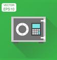 safe deposit icon business concept safe pictogram vector image vector image