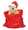 santa bag bear vector image vector image