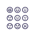 satisfaction level icons vector image