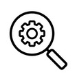 settings search linear icon vector image vector image