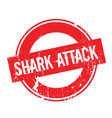 shark attack rubber stamp vector image vector image