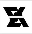 simple ex xe geometric initial logo vector image vector image