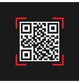 Simple QR code vector image