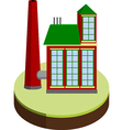 small factory vector image vector image