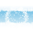 snow border with white snowflakes vector image vector image