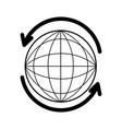 sphere planet with arrow around