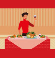 thanksgiving holiday design vector image vector image