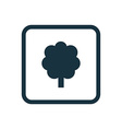 tree icon Rounded squares button vector image vector image