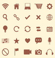 Web color icons on brown background vector image vector image