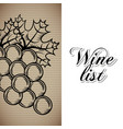 wine list drink card vector image