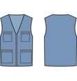 Work vest Front and back vector image vector image