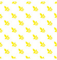 yellow autumn leaf pattern seamless vector image vector image