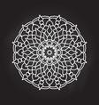 abstract mandala on chalkboard background vector image