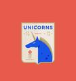 unicorns medeival sports team emblem abstract vector image