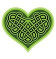 Shamrock heart Celtic symbol vector image