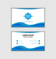 abstract blue gradient business card vector image vector image