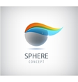 abstract sphere logo global round company vector image