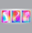 abstract trendy holographic gradient shapes vector image vector image