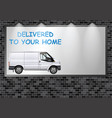 advertising billboard home deliveries vector image vector image