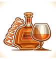 alcohol drink cognac vector image