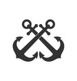 anchors crossed vector image