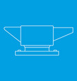 anvil icon outline style vector image vector image